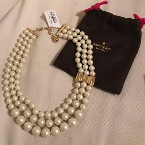 NWT Kate Spade Moon River tiered pearl necklace